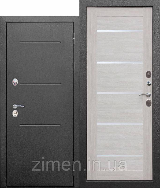 Вхідна морозостійка двері c ТЕР 11 см Isoterma СРІБЛО Модрина беж