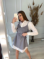 Жіночий стильний набір сукня-сорочка і штани, фото 1