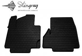 Передние автомобильные резиновые коврики (2 шт) для  NISSAN NV200 (2009-...)