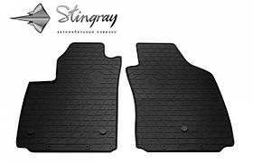 Передние автомобильные резиновые коврики (2 шт) для  FIAT 500 electric (2012-...)
