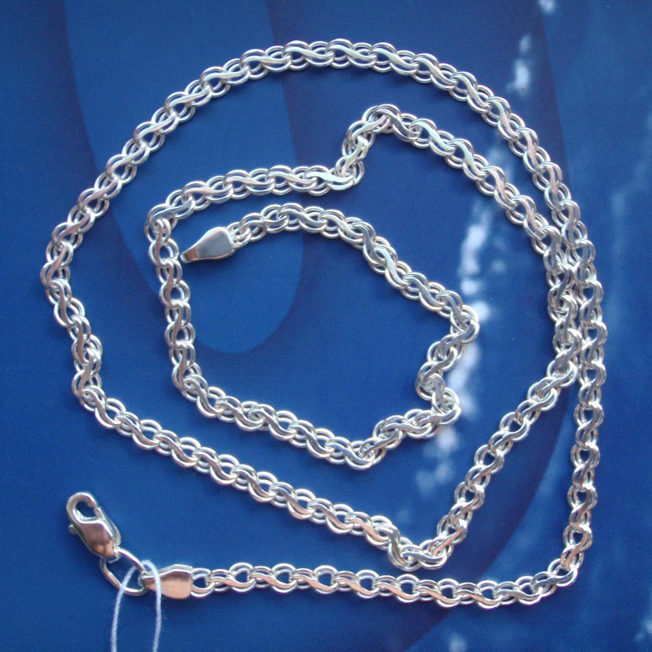 Срібна ланцюжок, 550мм, 9 грам, плетіння Струмок