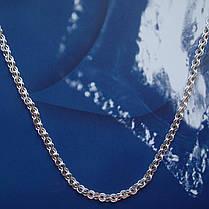 Срібна ланцюжок, 550мм, 9 грам, плетіння Струмок, фото 3