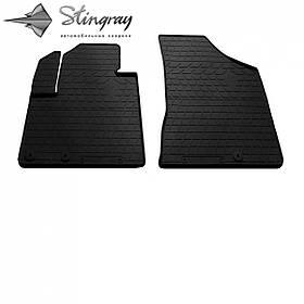 Передние автомобильные резиновые коврики (2 шт) для  HYUNDAI Santa Fe II (CM) (2010-2012)