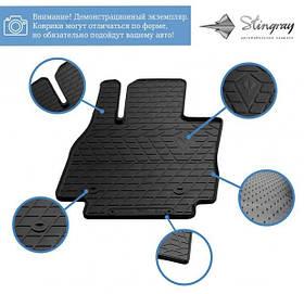 Передние автомобильные резиновые коврики (2 шт) для  JAC T8 (2019-…)