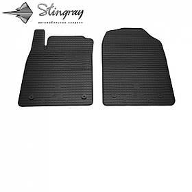Передние автомобильные резиновые коврики (2 шт) для  OPEL Vectra C (universal) (2002-2008)