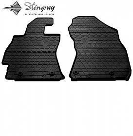 Передние автомобильные резиновые коврики (2 шт) для  SUBARU Outback V (BS) (2014-...)
