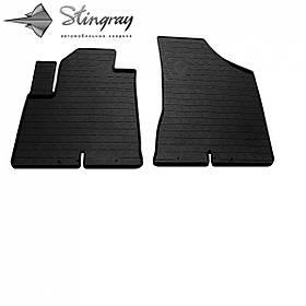 Передние автомобильные резиновые коврики (2 шт) для  HYUNDAI Santa Fe II (CM) (2006-2010)