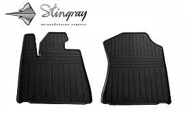 Передние автомобильные резиновые коврики (2 шт) для  TOYOTA Sequoia II (XK60) (2008-...)