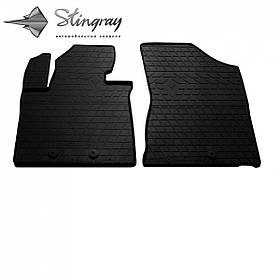 Передние автомобильные резиновые коврики (2 шт) для  KIA Sorento II (XM) (2012-2014)