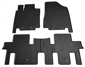 Передние автомобильные резиновые коврики (2 шт) для  NISSAN Pathfinder IV (R52) (2012-...)
