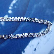 Срібна ланцюжок, 450мм, 7 грамів, плетіння Струмок, фото 3