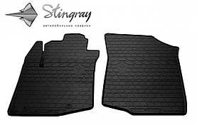 Передние автомобильные резиновые коврики (2 шт) для  PEUGEOT 108 (2014-...)