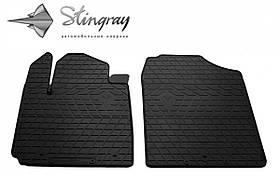 Передние автомобильные резиновые коврики (2 шт) для  KIA Picanto III (2016-...)