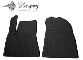 Передние автомобильные резиновые коврики (2 шт) для  TESLA Model 3 (2017-...)