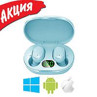 Беспроводные наушники Redmi AirDots Pro Bluetooth гарнитура Xiaomi Mi Вакуумные наушники для спорта Голубые