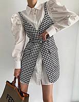Женский стильный набор платье-рубашка и сарафан, фото 1