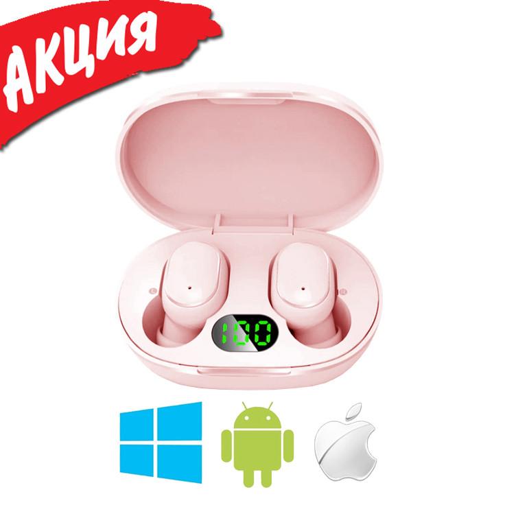 Беспроводные наушники Redmi AirDots Pro Bluetooth гарнитура Xiaomi Mi Вакуумные наушники для спорта Розовые