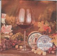 Салфетки для рукоделия Бокал и виноград