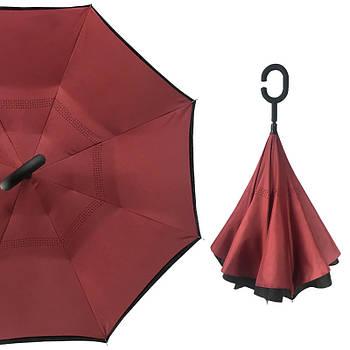 Зонт наоборот Up-Brella Бордовый (2907-13246)