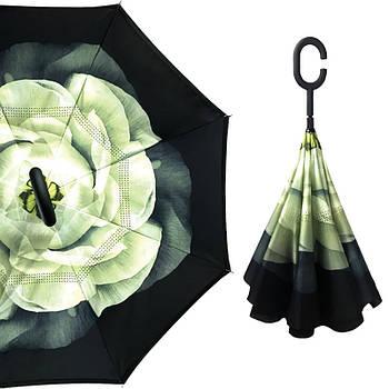 Зонт трость Up-Brella Гардения Черно-зеленый (2907-13252)