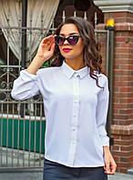 Белая женская классическая рубашка