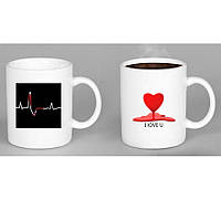 "Чашка ""heartbeat"" ( биение сердца )"