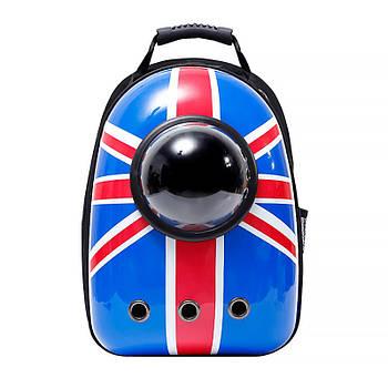 Рюкзак-переноска для кошек Taotaopets Window Britain Flag (5534-17639)