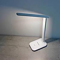 Настольная лампа UKC светодиодная аккумуляторная с регулировкой яркости USB 36LED Белая светильник на стол для
