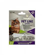 Капли на холку от блох, клещей и гельминтов Palladium Pet Line The One Палладиум для кошек весом до 4 кг