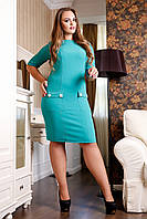 Женское бирюзовое платье Будапешт А1 Медини 50-56 размеры