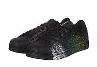 Кроссовки мужские Adidas Superstar Supercolor PW Paint Art Black