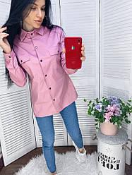 Жіноча сорочка з довгими рукавами коттон