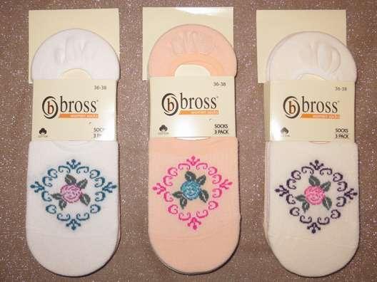 Набір 3 шт. Шкарпетки жіночі невидимі Bross літні