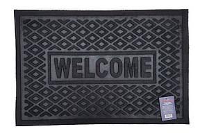 Коврик придверный без кромки с узором черный 40*60 см TZR01453/B