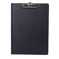 Папка-планшет А5 BuroMax PVC ВМ.3417-01 черная с зажимом PVC