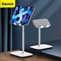 """Универсальный держатель для телефона и планшета Baseus Indoorsy Youth Tablet Desk Stand 10-45°,5.5-21.5"""" White"""