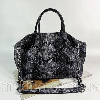 Жіноча шкіряна сумка на плече з лазерною обробкою Polina & Eiterou