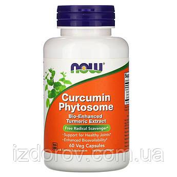 Now Foods, Фитосома куркумина 500 мг, Meriva Turmeric Phytosome, экстракт, антиоксидант, 60 капсул