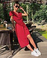 Стильне жіноче приталені плаття з V-подібним декольте, фото 1