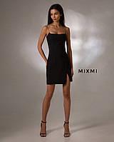Женское стильное мини платье на бретелях, фото 1