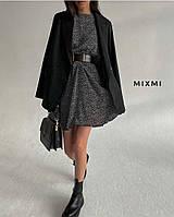 Жіноча стильна жіноча приталені плаття з довгим рукавом, фото 1