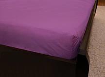 Двоспальне простирадло на резинці - Фіолетове однотонне