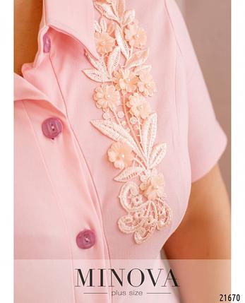 Элегантное и женственное платье с вышивкой-аппликацией Размеры: 48.50.52.54.56.58., фото 2