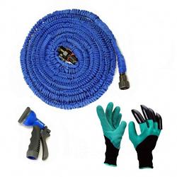 Садовий шланг X-ШЛАНГ для поливу 30m і садові рукавички з кігтями Garden Genie Gloves SKL11-238810