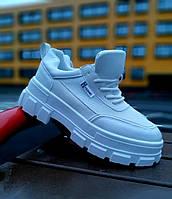 Женские кроссовки белые высокие