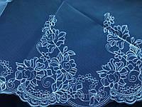 Свадебная фата с компьютерной вышивкой код 364