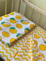 Комплект постельного белья в кроватку 3 предмета, сменное постельное белье в кроватку