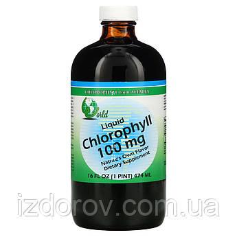 World Organic, Жидкий хлорофилл, 100 мг, Chlorophyll Liquid, 474 мл