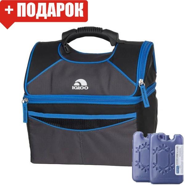 Сумка-холодильник Igloo PM GRIPPER 16, синяя (термосумка для обеда, изотермическая сумка)