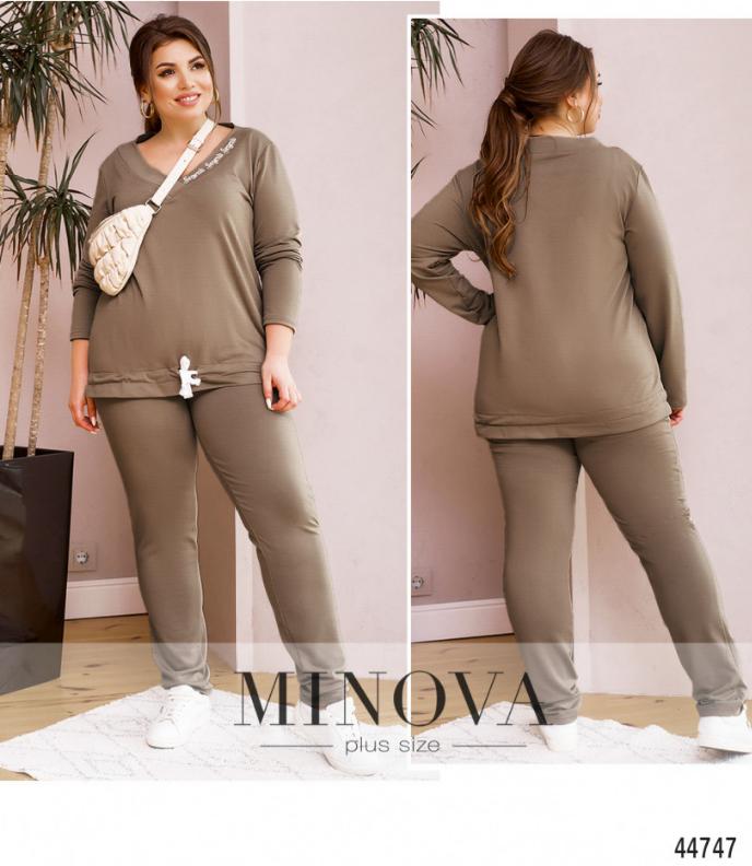 Спортивный костюм женский летний Minova Размеры: 58.60.